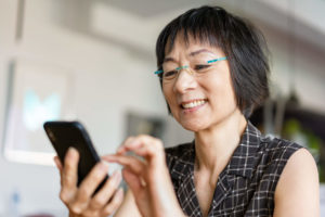 Woman using an smartphone