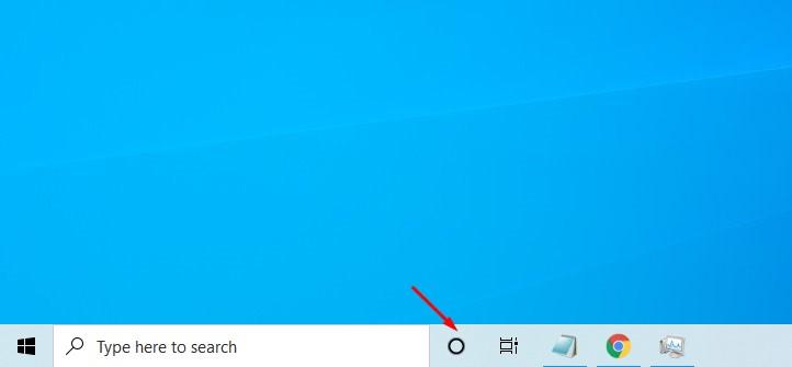 click on the Cortana icon